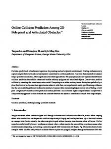 Online Collision Prediction Among 2D Polygonal and ... - GMU MASC