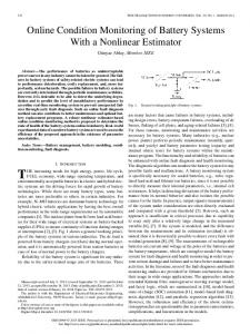Online Condition Monitoring of Battery Systems With a ... - IEEE Xplore