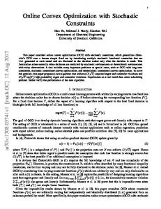 Online Convex Optimization with Stochastic Constraints - arXiv