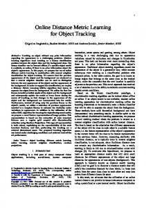 Online Distance Metric Learning for Object Tracking - FORTH-ICS