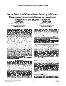 Online Educational Games-Based Learning in Disaster Management ...