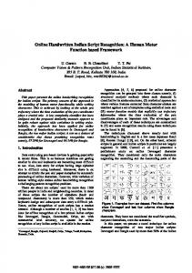 Online Handwritten Indian Script Recognition: A ... - Semantic Scholar