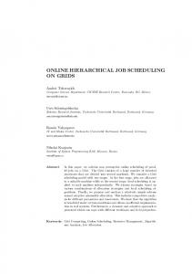 online hierarchical job scheduling on grids - Semantic Scholar