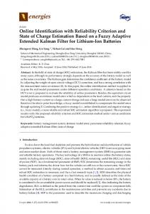 Online Identification with Reliability Criterion and State of ... - MDPI