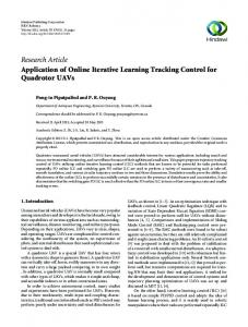 Online Iterative Learning Tracking Control for Quadrotor UAVs