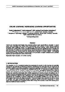 online learning: increasing learning opportunities