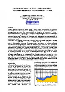 online-monitoring and prediction of wind power in ... - REnKnow.Net