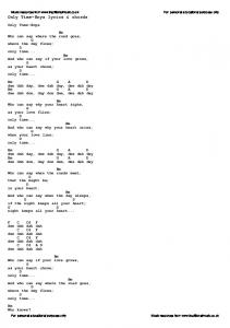 Only Time-Enya lyrics & chords - Traditional Music Library