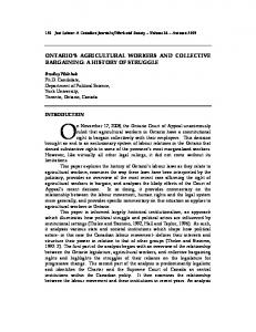 ontario's agricultural workers and collective bargaining - Just Labour