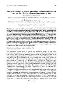 Ontogenic changes in hepatic glutathione and ...