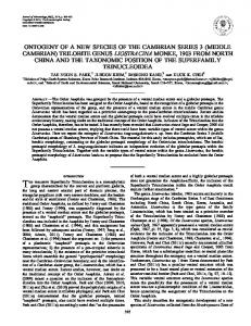 ontogeny of a new species of the cambrian series 3 (middle cambrian ...