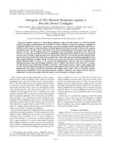Ontogeny of Th1 Memory Responses against a Brucella abortus ...