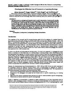 Ontologies for Effective Use of Context in e ... - Semantic Scholar