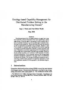Ontology-based Capability Management for Distributed ... - CiteSeerX