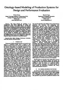 Ontology-based Modeling of Production Systems for Design and ...