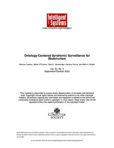 Ontology-Centered Syndromic Surveillance for ... - Semantic Scholar
