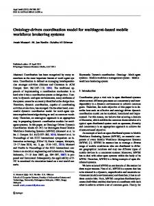 Ontology-driven coordination model for multiagent ... - Springer Link