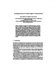 Ontology-Services to Facilitate Agents ... - Semantic Scholar