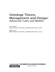 Ontology Theory, Management and Design - Semantic Scholar