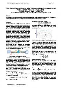 ONU Optimal Gain and Position of the Distribution ... - IEEE Xplore