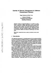 Opacity of Memory Management in Software Transactional Memory