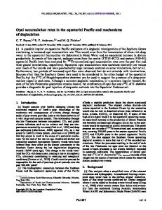 Opal accumulation rates in the equatorial Pacific ... - Wiley Online Library