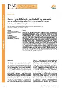 OPEN A CCESS OPEN A CCESS Changes in microbial diversity ...