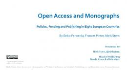 Open Access and Monographs - Septentrio Academic Publishing