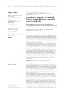 Open Access Improving the sensitivity of the IBR-gE
