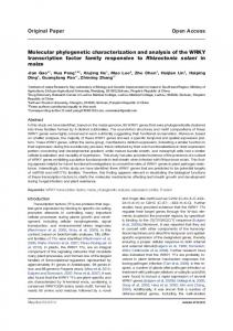 Open Access Original Paper Molecular phylogenetic ... - Maydica