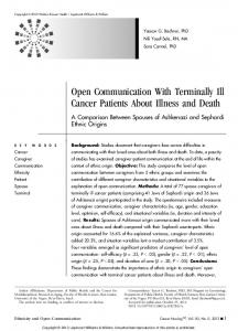 Open Communication With Terminally Ill Cancer ...