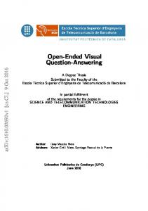 Open-Ended Visual Question-Answering