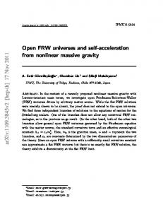Open FRW universes and self-acceleration from nonlinear massive ...