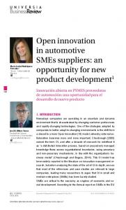 Open innovation in automotive SMEs suppliers: an opportunity for new ...