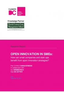 OPEN INNOVATION IN SMEs