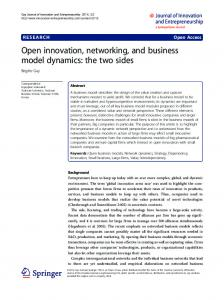 Open innovation, networking, and business model ... - SpringerOpen