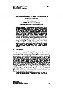 Open Innovation research - Journal of Innovation Management