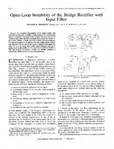 Open-Loop Instability of the Bridge Rectifier with - IEEE Xplore