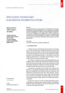 open source technologies in geographic information systems - Sinteza