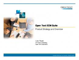 Open Text ECM Suite