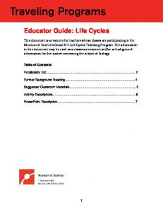 Open the educator guide (PDF) - Museum of Science