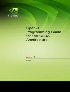 OpenCL Programming Guide - Nvidia