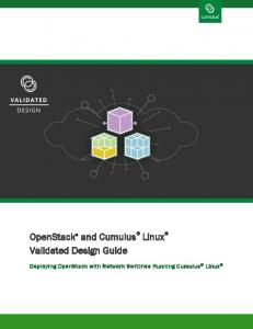 OpenStack Cumulus Validated Design Guide