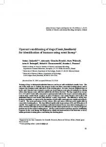 Operant conditioning of dogs (Canis familiaris) for identification of ...