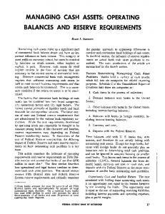 Operating Balances and Reserve Requirements - Federal Reserve ...