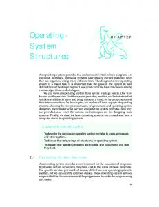 Operating- System Structures - Wiley