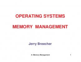 OPERATING SYSTEMS MEMORY MANAGEMENT