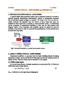 OPERATIONAL AMPLIFIERS and FEEDBACK 2. ABOUT ...