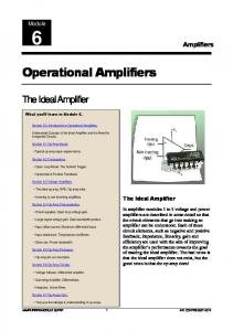Operational Amplifiers - Learn About Electronics