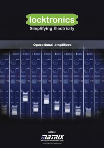 Operational amplifiers - Matrix Multimedia Ltd